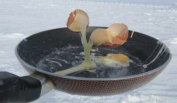 Έτσι είναι το φαγητό όταν μαγειρεύεις στους -70ºC !