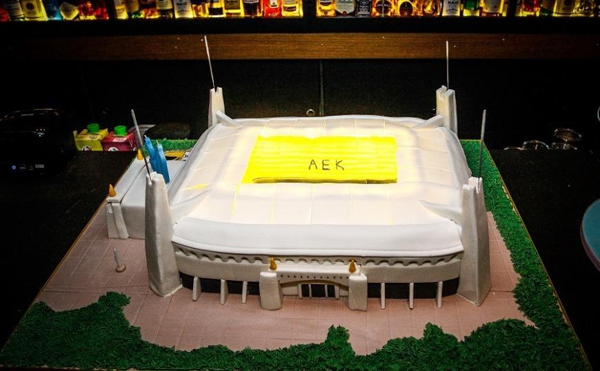 ΑΕΚ: Η εντυπωσιακή τούρτα, «Αγιά Σοφιά», του Βράνιες