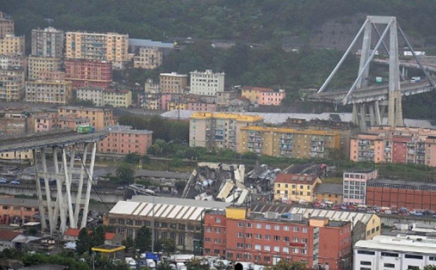 Ανατίναξαν με εκρηκτικά τη γέφυρα Μοράντι στη Γένοβα (video)