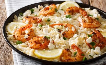 Γαρίδες με ρύζι και παρμεζάνα