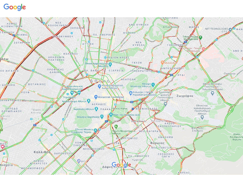 Για γερά νεύρα η κίνηση στους δρόμους της Αθήνας λόγω της απεργίας στα Μέσα Μεταφοράς