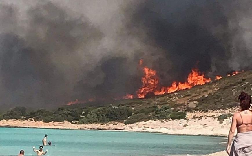 Ελαφόνησος: Φωτιά στην εξωτική παραλία του Σίμου