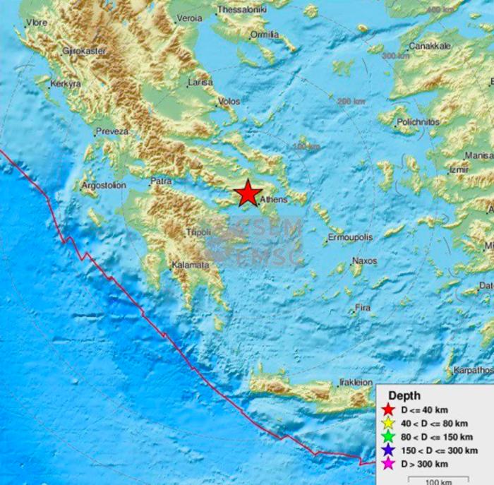 Ισχυρός σεισμός 5,3 R ταρακούνησε την Αθήνα