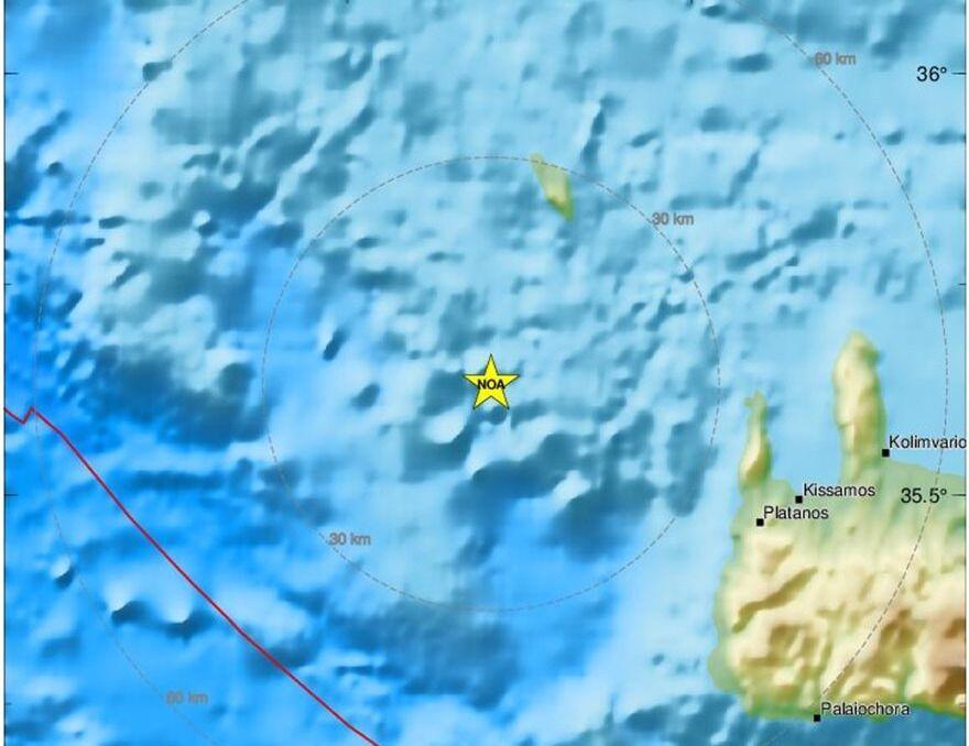 Ισχυρός σεισμός 6,1 Ρίχτερ βορειοδυτικά της Κρήτης