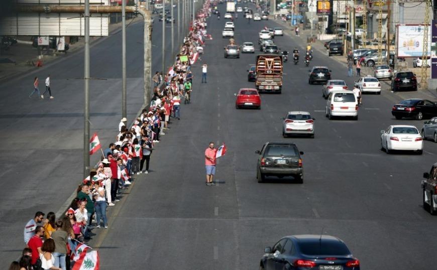 Λιβάνος: Πολίτες δημιούργησαν ανθρώπινη αλυσίδα 170 χιλιομέτρων