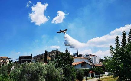 Ναύπλιο: Τέθηκε υπό έλεγχο η φωτιά που απείλησε σπίτια