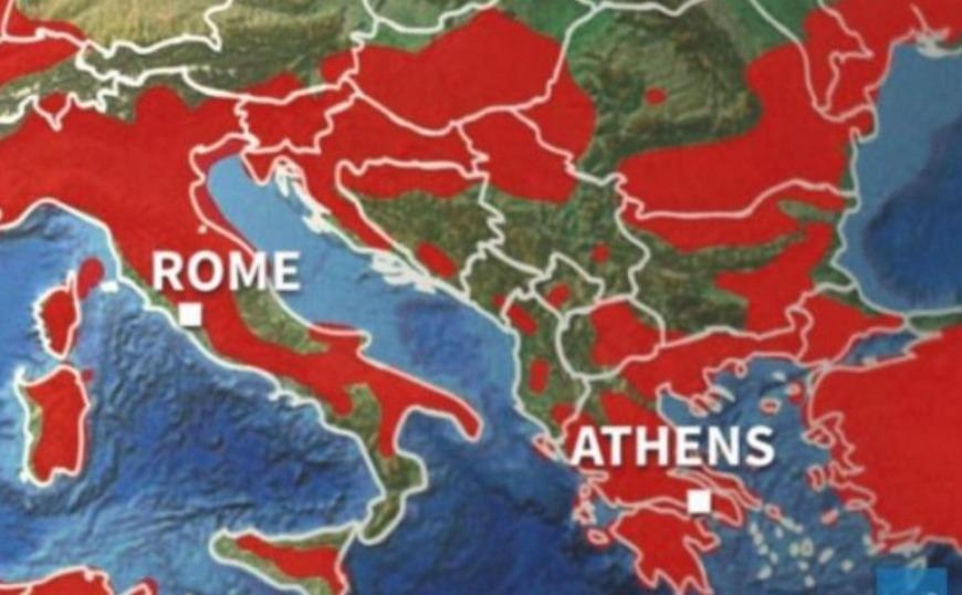 Ο Καύσωνας της Σαχάρας που πλήττει την Ευρώπη από την Δευτέρα και στην Ελλάδα