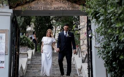 Παντρεύτηκαν Βασίλης Κικίλιας και Τζένη Μπαλατσινού - Ο λαμπερός γάμος στον Λυκαβηττό