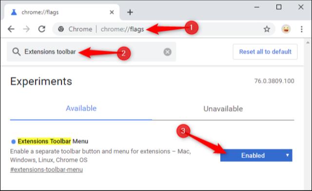 Πως ενεργοποιούμε το ολοκαίνουργιο extensions menu του Google Chrome