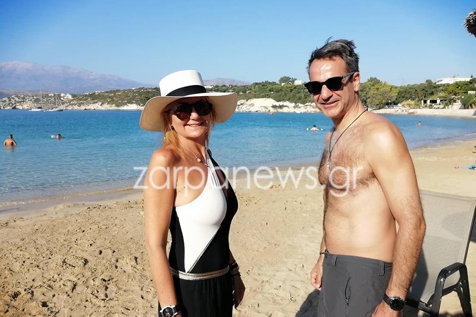 Στα Χανιά ο Κυριάκος Μητσοτάκης μαζί με την σύζυγό του Μαρέβα