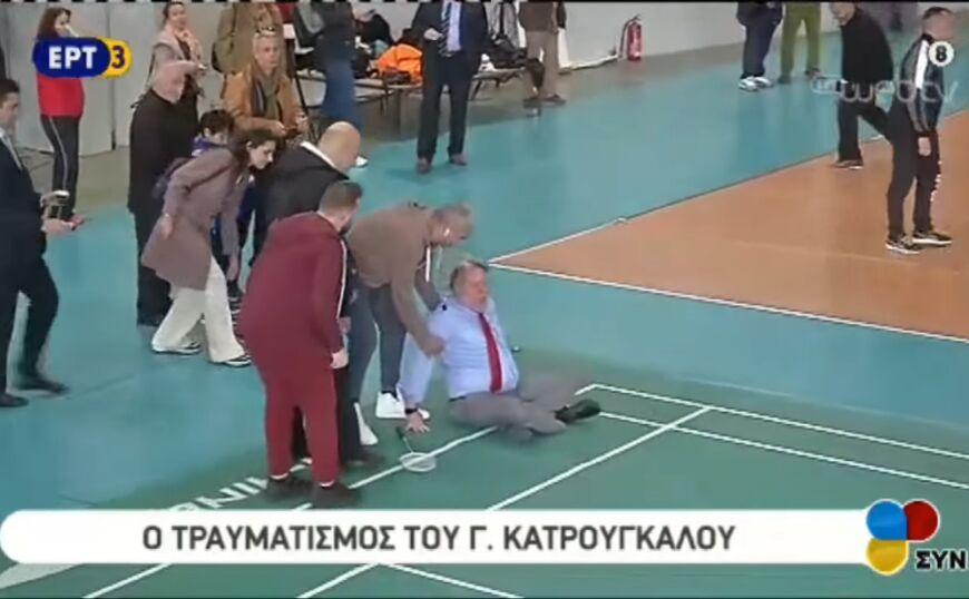 Τραυματίστηκε παίζοντας μπάντμιντον ο Κατρούγκαλος (video)