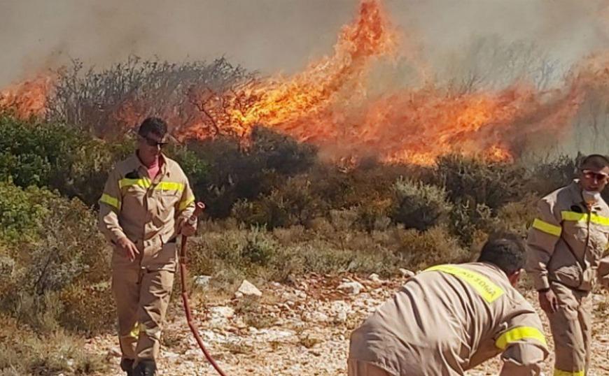 Φωτιά στη Ζάκυνθο: Καλύτερη εικόνα στο νησί