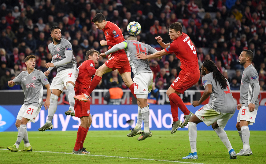 Champions League: Μπάγερν-Ολυμπιακός 2-0