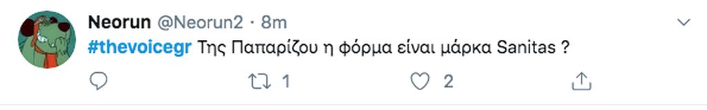 Voice: Η Έλενα Παπαρίζου έκανε μία εντελώς αλλόκοτη εμφάνιση & το Twitter την «περιποιήθηκε» καταλλήλως